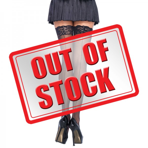 Leg Avenue Sheer Stockings with Backseam Black