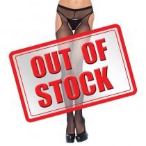 Leg Avenue Fishnet Suspender Pantyhose Black