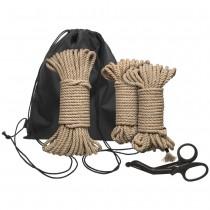 Kink Bind And Tie<br /> Initiation 5 Piece<br /> Hemp Rope Kit