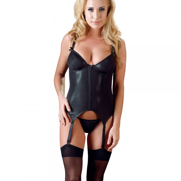 Cottelli Collection Wet Look Basque .