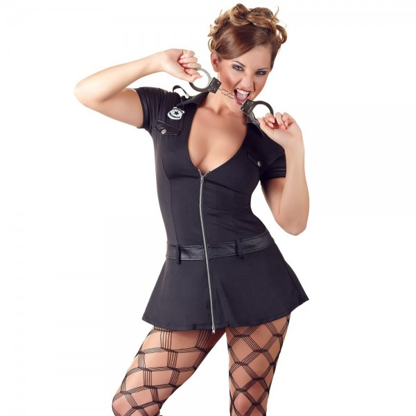 Cottelli Collection Black Police Women Dress