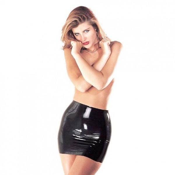 Sharon Sloane Latex Mini Skirt