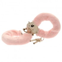 Toy Joy Furry Fun Hand Cuffs Pink Plush
