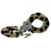 Furry Fun Hand Cuffs Leopard Plush