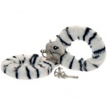 Toy Joy Furry Fun Hand Cuffs Zebra Plush