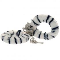 Furry Fun Hand Cuffs Zebra Plush