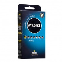 MY.Size Natural Latex Condoms 47mm Width 10 Pack
