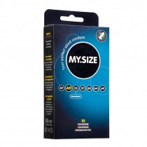 MY.Size Natural Latex Condoms 49mm Width 10 Pack