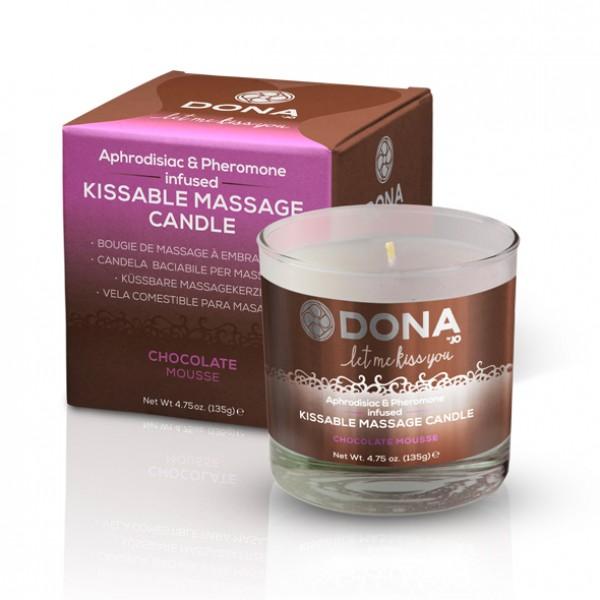 DONA Kissable Massage Candle Chocolate Mousse 135g