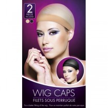 Nude And Black Wig Caps 2PK
