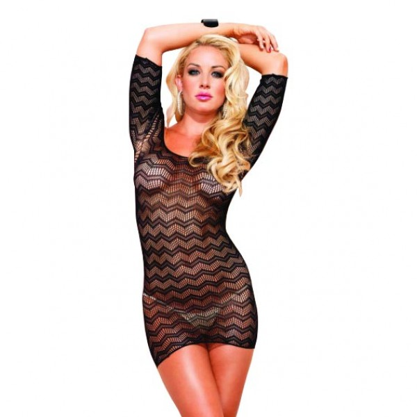 Leg Avenue Zig Zag Crotchet Dress