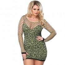 Leg Avenue Seamless Leopard Mini Dress