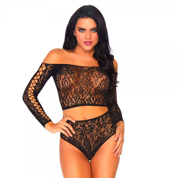 Leg Avenue 2 Piece Lace Top And Thong