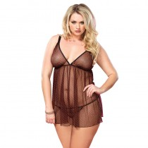 Leg Avenue<br /> Chemise With<br /> Red Hearts