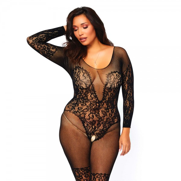 Leg Avenue Vine Lace and Net Bodystocking