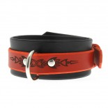 House Of Eros Red And Black Tribal Collar