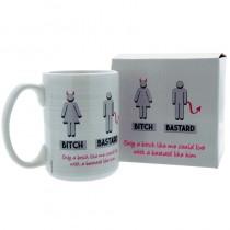 Humour Mug Bitch/Bastard