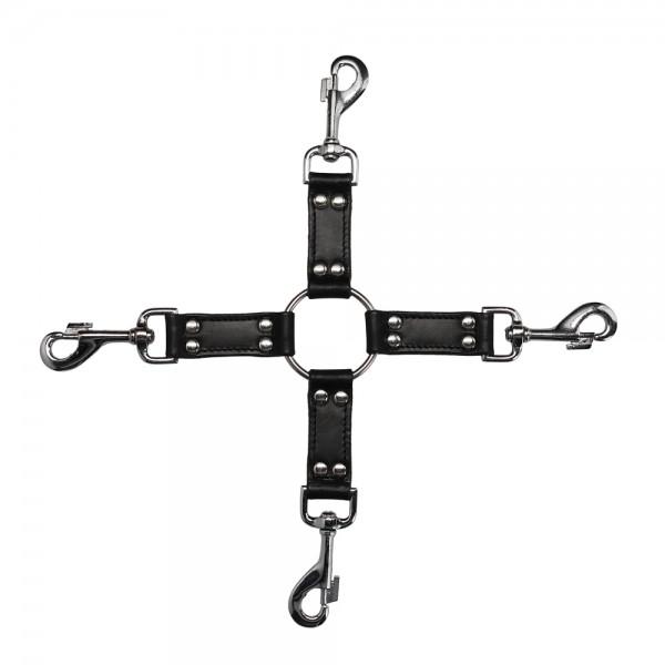 4Way Leather Hogtie Cross