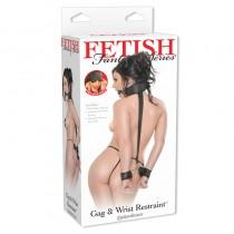 Fetish Fantasy Gag And Wrist Restraint