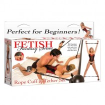 Fetish Fantasy Series Rope, Cuff And Tether Set