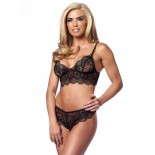 Lovely Black Lace Bralette<br />