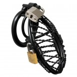 Metal Male<br /> Chastity Device<br /> With 2 Padlocks