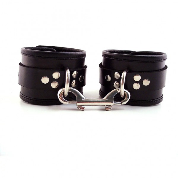 Rouge Garments Ankle Cuffs With Piping Leather
