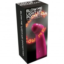 Blow Me Light Up Pocket Fan Pink